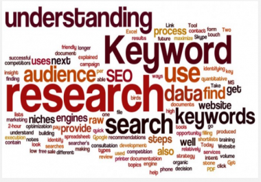 Provide In depth SEO Keyword Research Report To Help Your website Rank Higher
