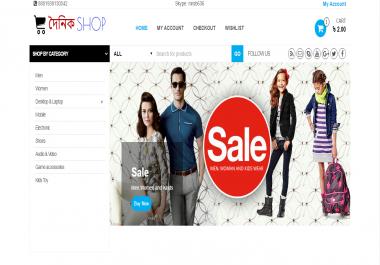 Make Wordpress Woocommerce Website