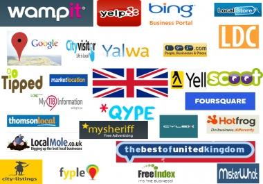 create 60 best UK local citations