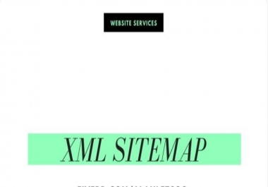 XML Sitemap and robots.txt i will add in your Website