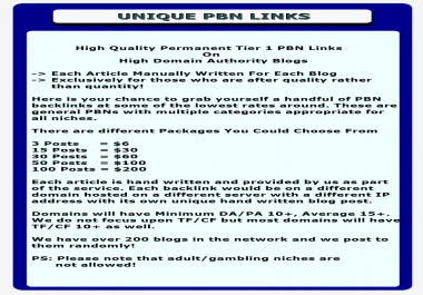 Trial Service: 3  PBN Links On My Private Network Domains