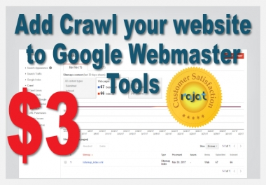 Add Crawl your website to Google Webmaster Tools