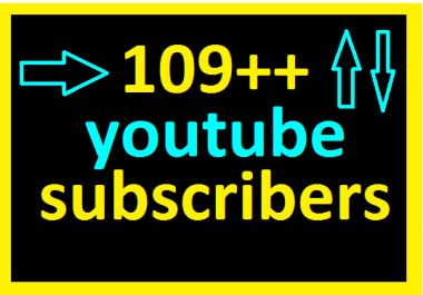 Real 129++Non drop youtub  social network channel subscribers or 120+ yooutub social like very fast delivery