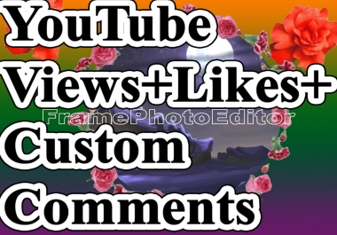 1000 YT views non drop guaranteed +5 YT Likes,+2 Custom Comments