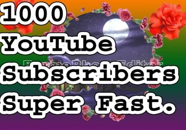 1000 YouTube subscribers non drop guaranteed