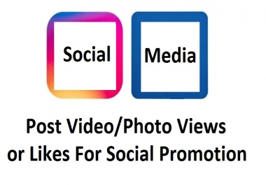 Get 10000+ Video or Photo Post Promotion For Social Exposer