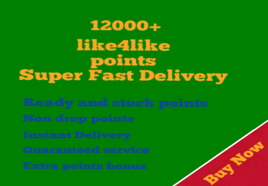 Ready account 12000 like4like points instant delivery