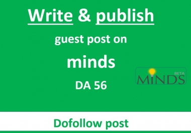 Write and publish guest post on minds DA56 PA63