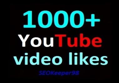1000+ YouTube Video Likes, Split available, Safe Video Promotion instant start
