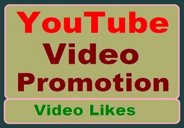 YouTube Video Promotion with Thumbs up High-quality and Fastest delivery