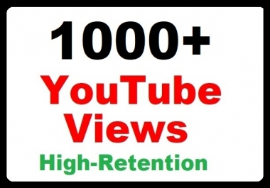 1000+ YouTube Video Promotion High Quality, Real and Faster delivery just