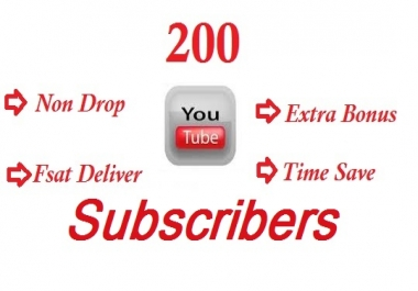 Buy 200+ YouTube Channel Subscribers