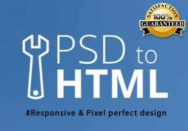 PSD to HTML responsive design