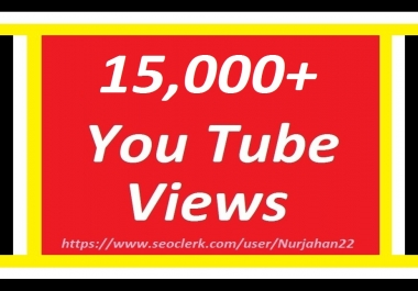 Happy New Year Offer Add/Safe 15,000+YouTube Views+100 YouTube Likes Bonus 24-35 Hours in complete