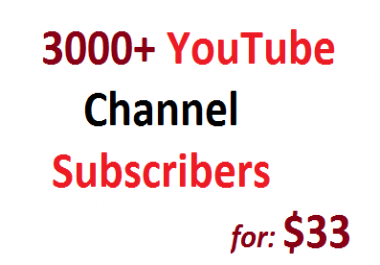 Safe 3000 Non Drop YouTube Subscribers