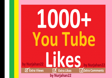 Provide 1020+  Real Non drops YouTube  Likes 12-24 Hours  in complete