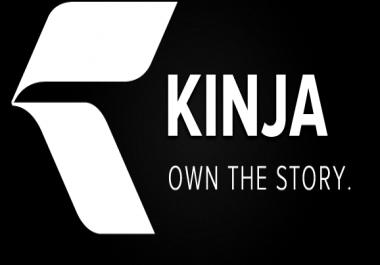 Guest post on Kinja DA 73, PA 75 with Dofollow Backlinks