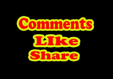 Non Drop 20 Youtube Comments, 50 youtube shares, 30 Youtube Like only