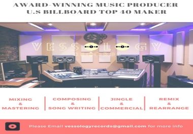 Produce Your Song/Album with award winning and Top 40 maker Music Producer (Pop, EDM, Hip Hop and Etc...)