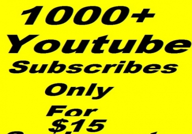 1000 youtube subscribe very fast delivery
