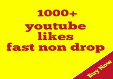 1000+real youtube likes very fast delivery