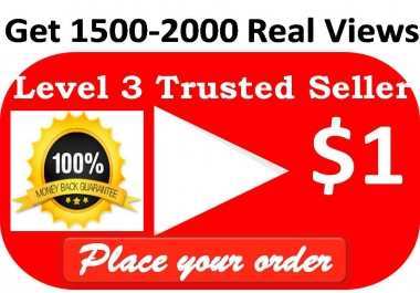 Get Non-drop Unique   4000-5000 High Quality Views Video  with 10 Likes within 12-24 houres