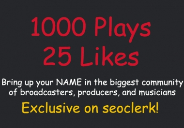 [CHEAP] Add 1000 Plays and 25 Likes SPREAKER