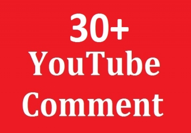 Real 30+You -Tube custom comments non drop and supper fast delivery just
