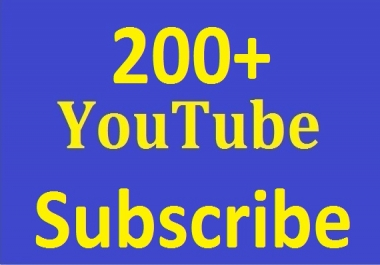 Safe 200+Youtube Subs-criber Real and non drop Guaranteed just