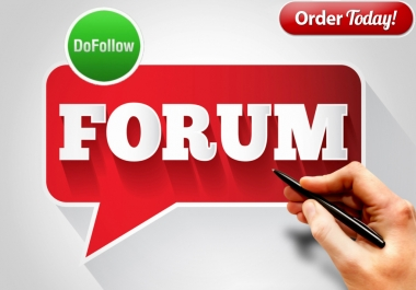 Provide 20 Forum Signature & Profile Backlink Manually Pr9 To Pr6
