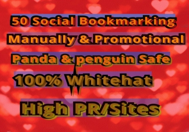Give You Manual 50 Social Bookmarking From High Page Rank/PR Sites