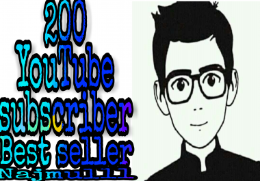 Limited offer safe NON-DROP 100+ YouTube manually channel  subscriber non drop very fast in 2-1 hours