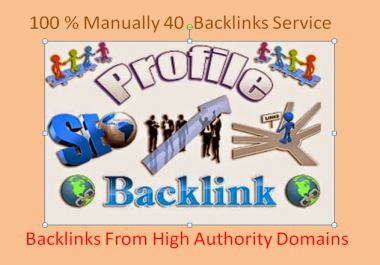 I create manually 40 SEO High Pr Backlinks for