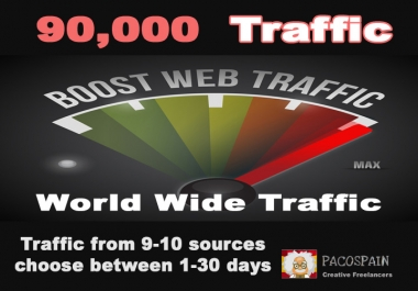 give you 90,000 traffic from 9 sources in 5 days