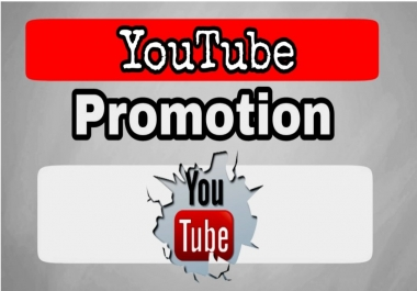 Manually Do Youtube Video Promotion very fast delivery