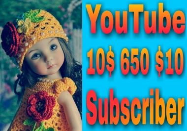Get instant 800 YouTube manually channel subscriber non drop very fast in 2-1 hours