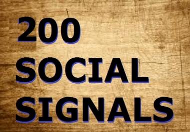 200 Real Google SEO Social Signals