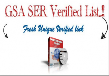 Get FRESH Gsa SER VERIFIED sites list with over 3.5 Million Unique Domains and 14 Million Unique URLs