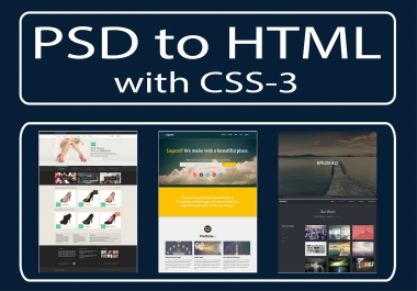 Convert your psd to responsive html-5 with css-3