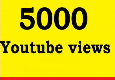 5000 High quality Super fast delivery views OR 50 custom comment in Your video