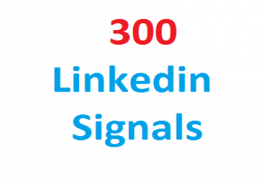 300+Linkedin Real Seo Social Signals with split also available