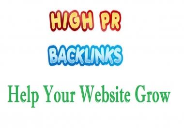 Create 10 High Quality PR 10-5 Dofollow Backlinks