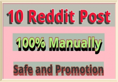 I wii do 10 Reddit LInks promotion to my different profile with get promoted