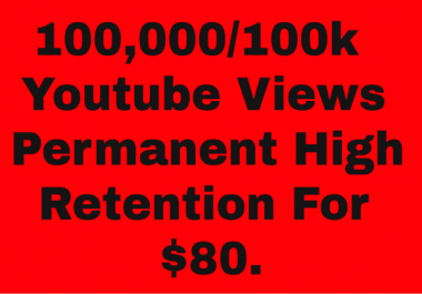 ADD 100K PERMANENT YOUTUBE VIEWS ADD YOUR VIDEO VERY SHOT TIME DELIVERY