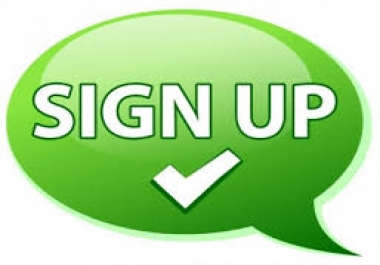 give you 5 worldwide real people sign up