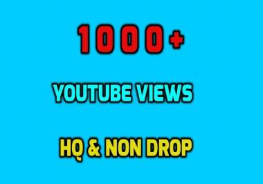 INSTANT 1000+ HR NON DROP YOUTUBE VIEWS GUARANTEED