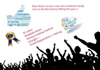 100-5000 Up Votes for Online Contest Voting.10-25 percent bonus votes! Promote you Up.