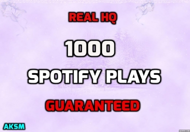 GAIN ROYALTY & 1000 HQ SPOTIFYPLAYS CHEAP & FAST