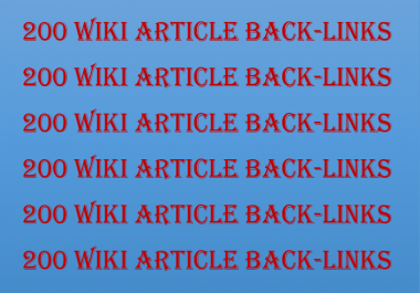 200 Wiki Articles Contextual Back-Links Instant