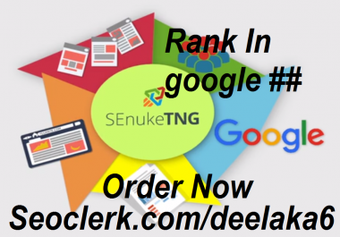 Will rank your website in google first page with quality backlinks